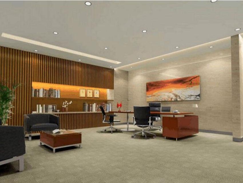 办公室-办公室石膏板造型吊顶